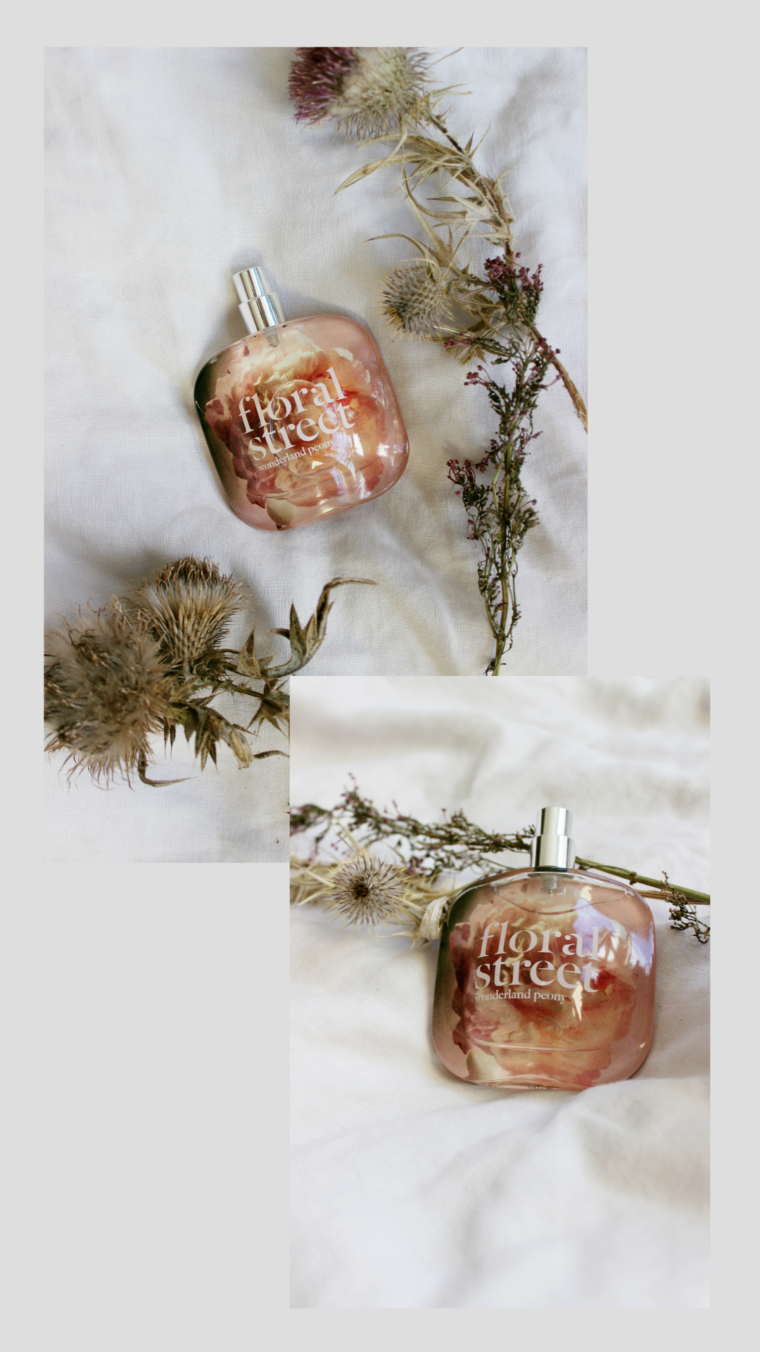 floral street's sustainable and ethical perfume, wonderland peony scent