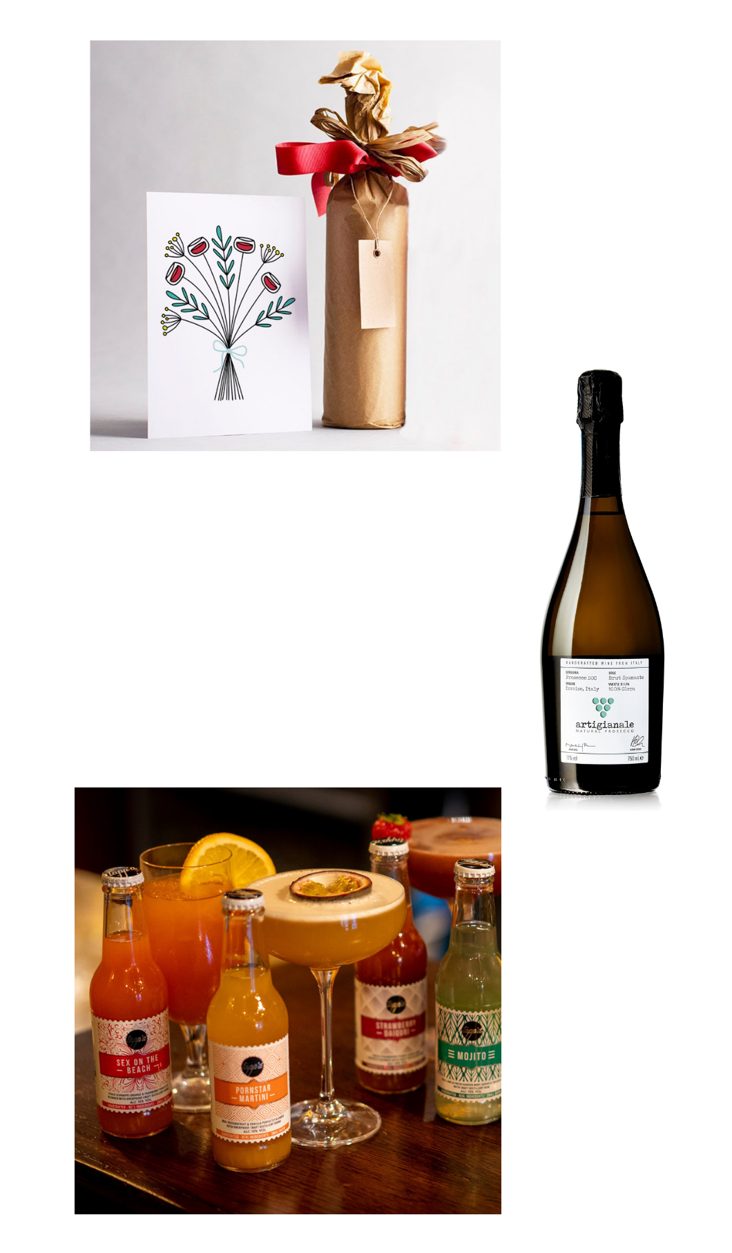 organic valentines wine, sustainable prosecco, natural tappd cocktails